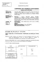 DELIB + MODIFICATION DES TARIFS EAU ET ASSAINISSEMENT